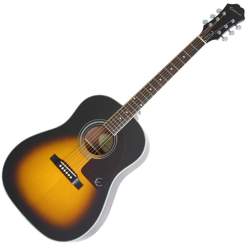 Epiphone AJ-220S Solid Top Acoustic Vintage Sunburst - Brown
