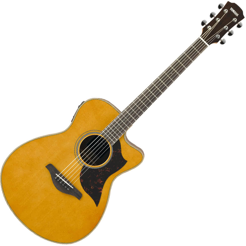 Yamaha AC1M//02 Concert Body Acoustic Guitar w/solid Spruce top - Mahogany back and sides - Vintage Natural