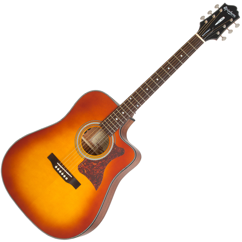 Epiphone Masterbilt DR-400MCE Acoustic/Electric Faded Cherry Sunburst - EM40FCSNH1
