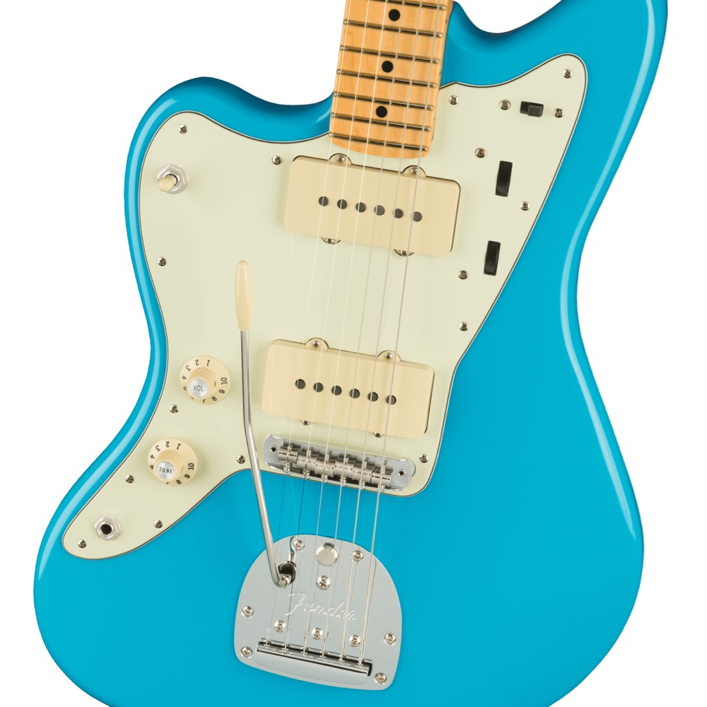 Fender American Professional II Jazzmaster Left-Hand - Maple/Miami Blue
