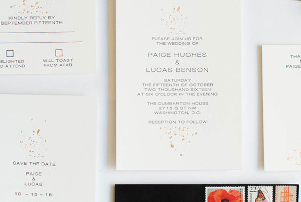 DIY gold foil wedding invitations 4 ways you can add foil to your