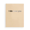 i do (love you) in tan and silver