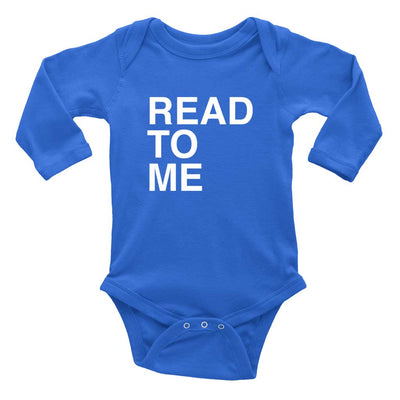 Long Sleeve Baby Romper Read To Me
