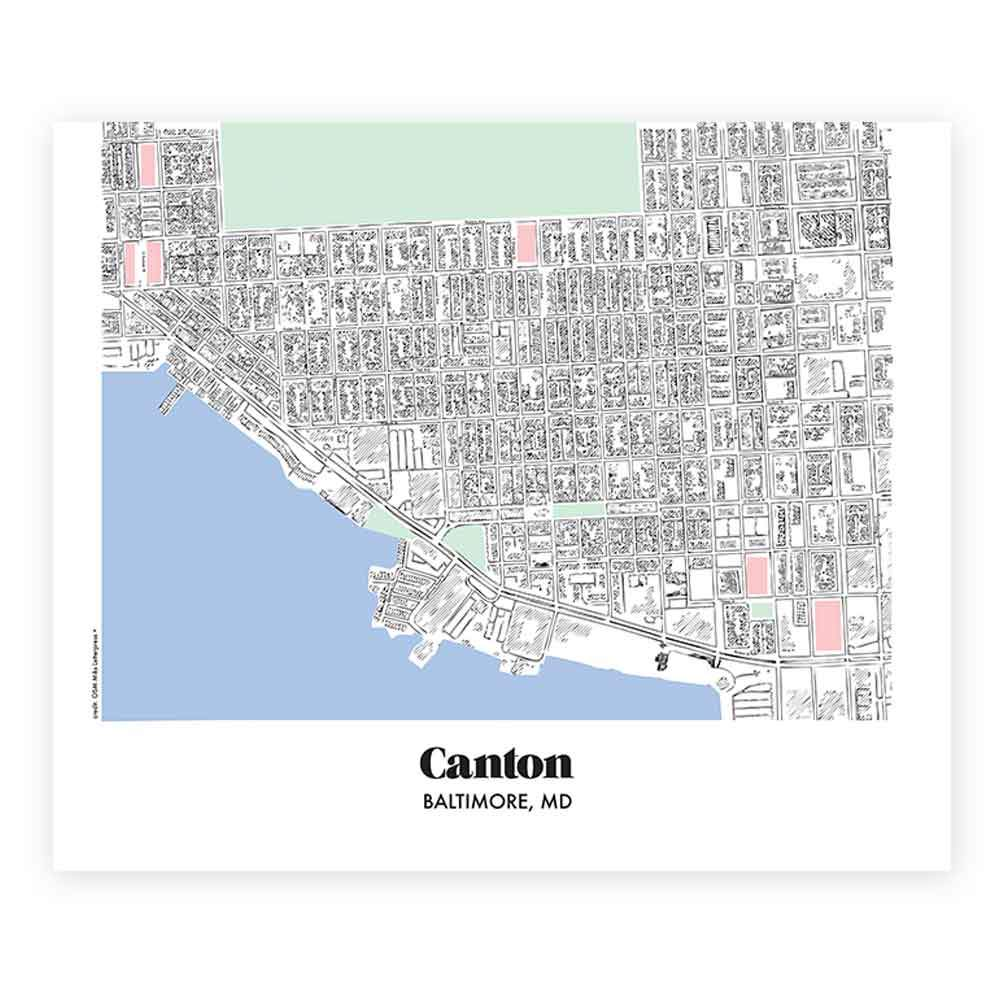 Baltimore Canton Neighborhood Map Miks Letterpess