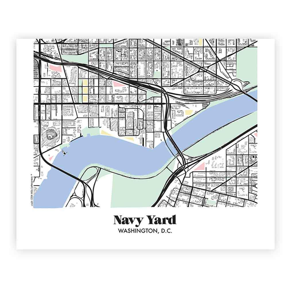 Map Of Navy Yard In Washington Dc Miks Letterpess