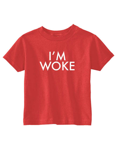 Funny T- Shirt for Kids I'm Woke