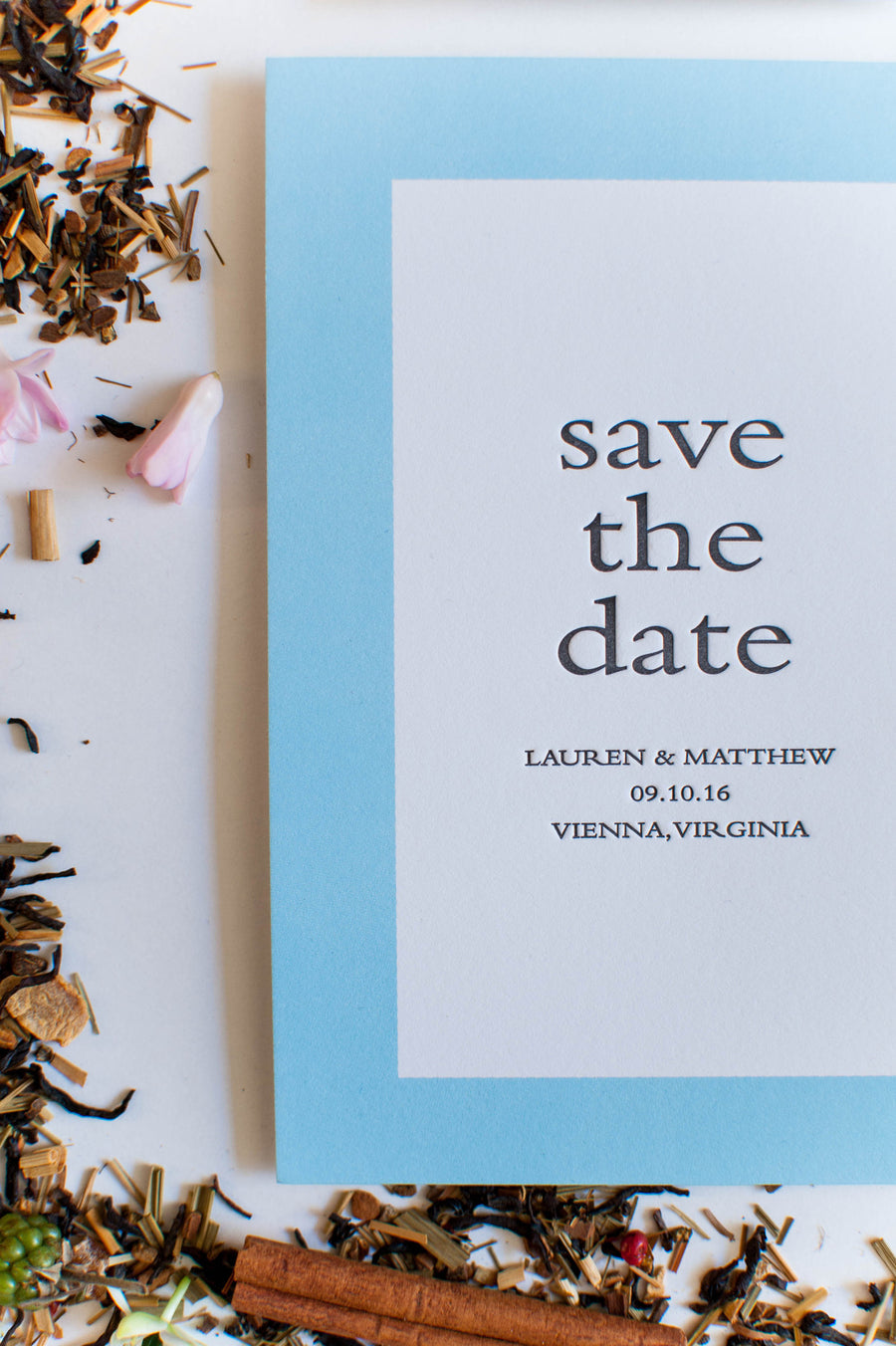 Annabelle collection letterpress and watercolor wedding Collect and save