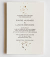 Paige Collection Gold Foil and Letterpress Ink Splatter Wedding Invitation Collection
