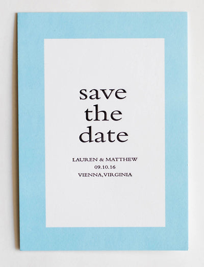 Lauren Collection Letterpress Wedding Save The Date