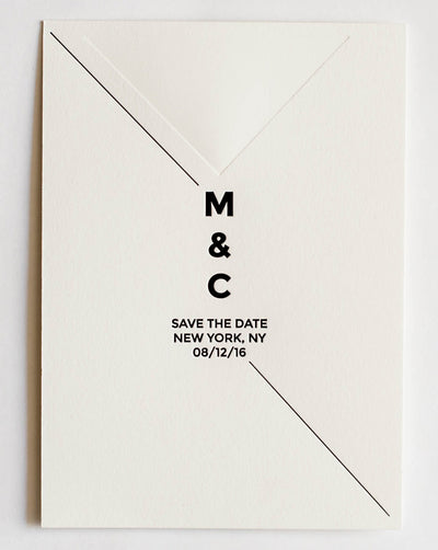 Margo Collection Letterpress Wedding Save The Date