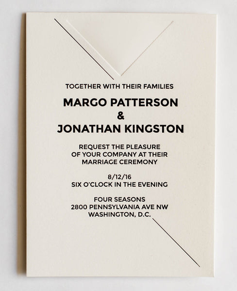 Margo Collection Letterpress Wedding Invitation Collection