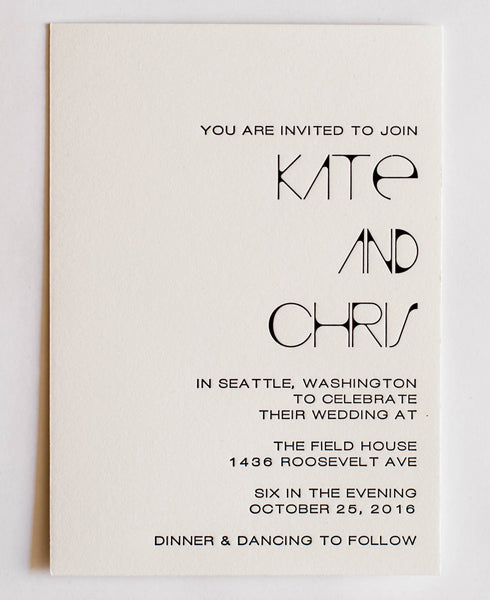 Kate Collection Letterpress Wedding Invitation Collection