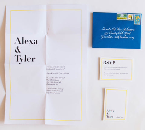 Oversize Alexa Collection Wedding Invitation Collection