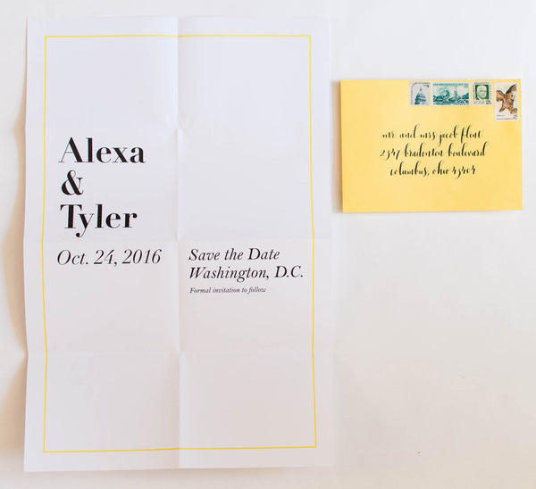 Oversize Collection Wedding Save The Date