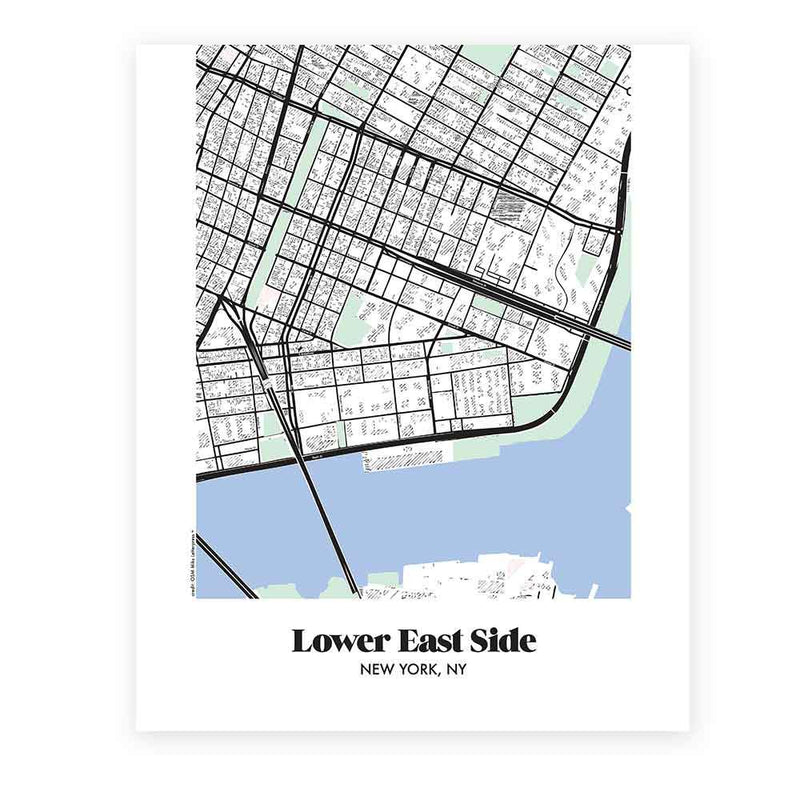 Lower East Side New York Map.Map Of Lower East Side In New York Miks Letterpess