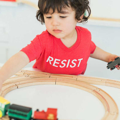 Funny T- Shirt for Kids Resist
