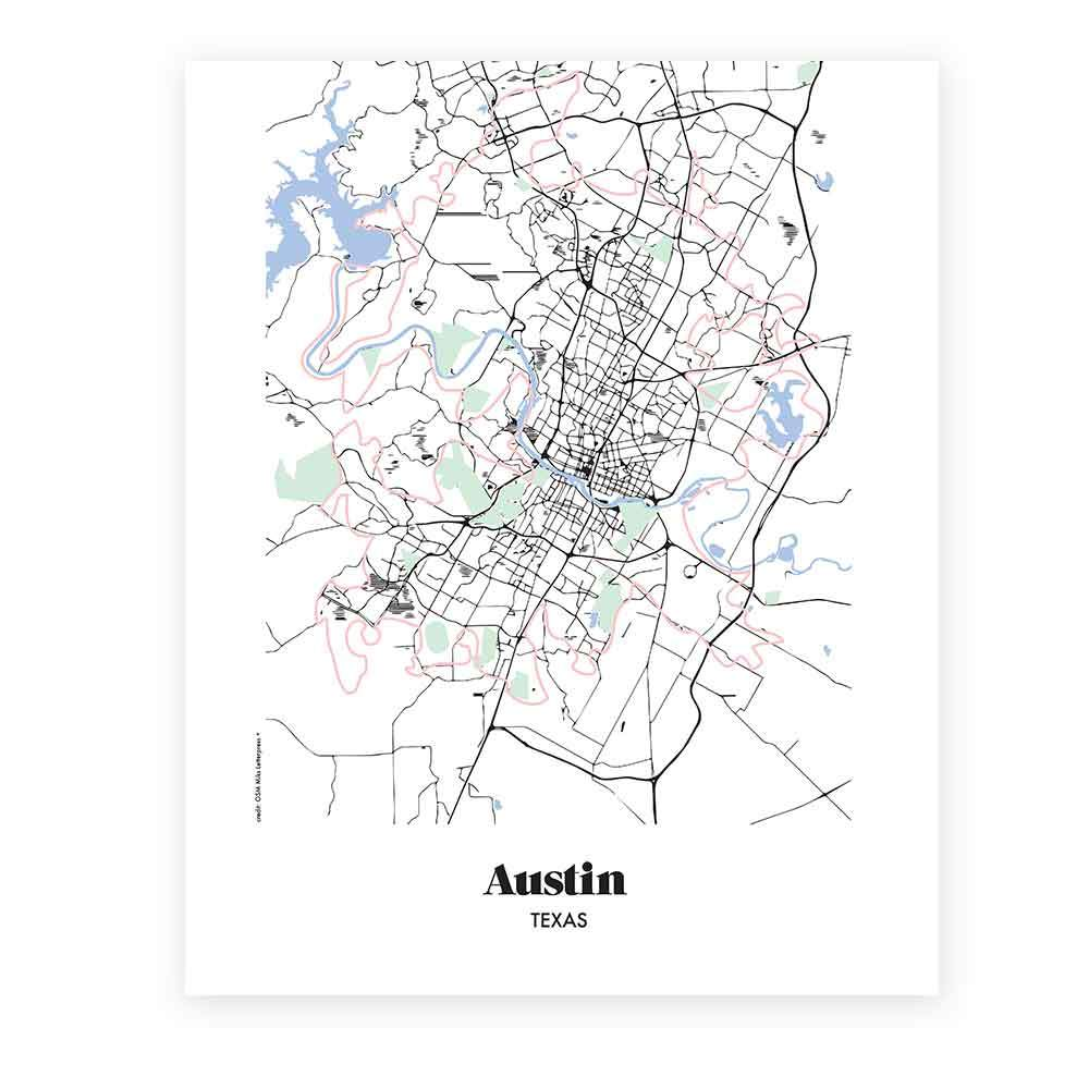 Map of austin drawn map austin pencil and in color drawn map map of austin map of austin texas miks letterpess sciox Gallery