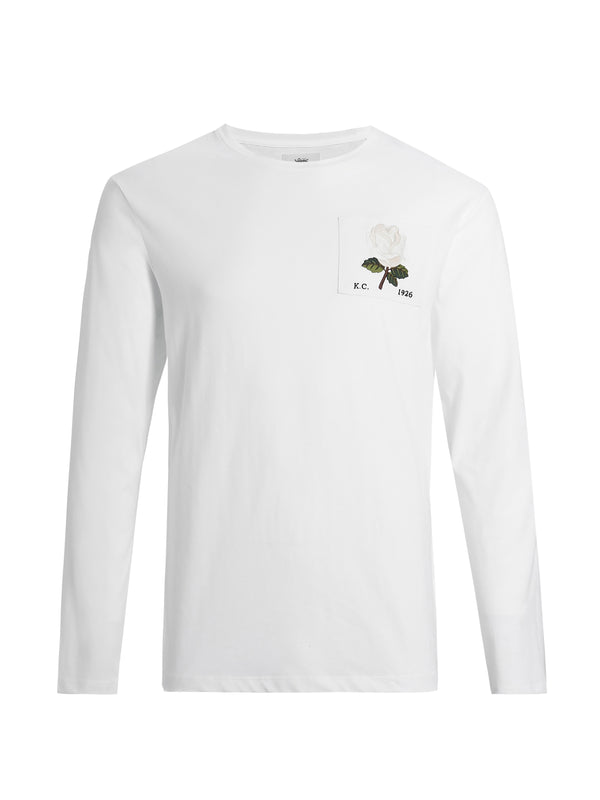 Rose Embroidered Long Sleeve T-Shirt