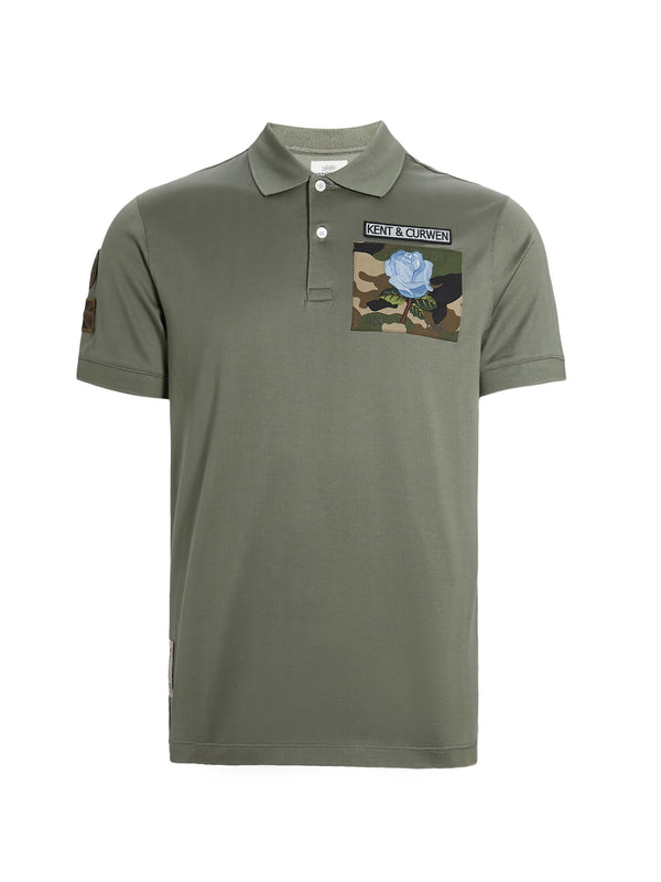 Camouflage Rose Patch Polo