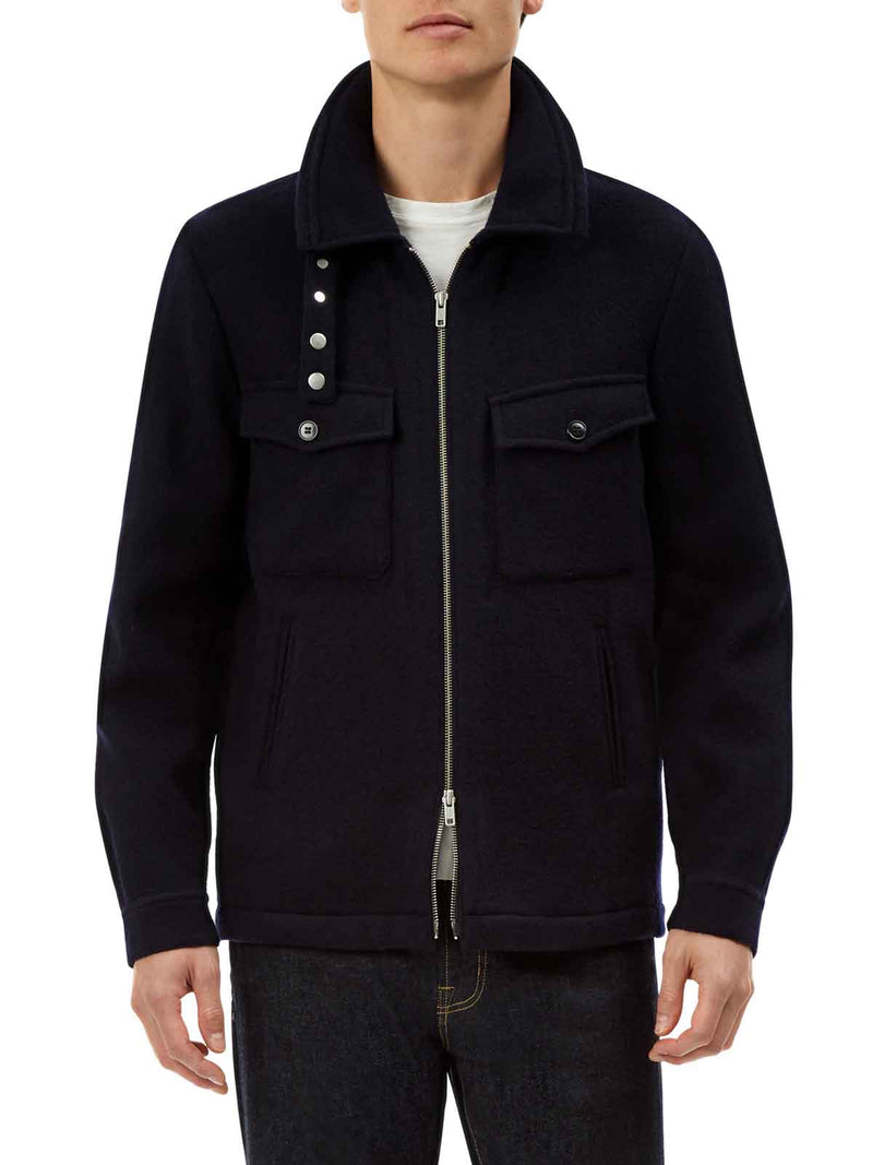Wool Zip Through Jacket