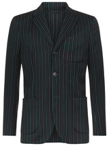 Striped College Blazer
