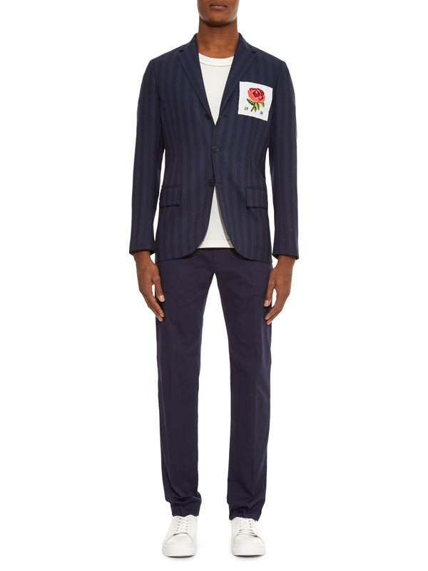 Rose Patch College Blazer
