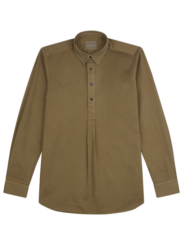 Detachable Collar Overhead Shirt