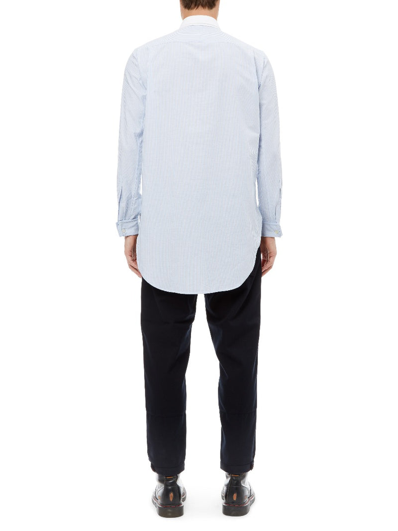 Oversized Shirt with Detachable Collar