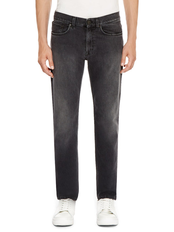 Skinny Fit Washed Black Jeans