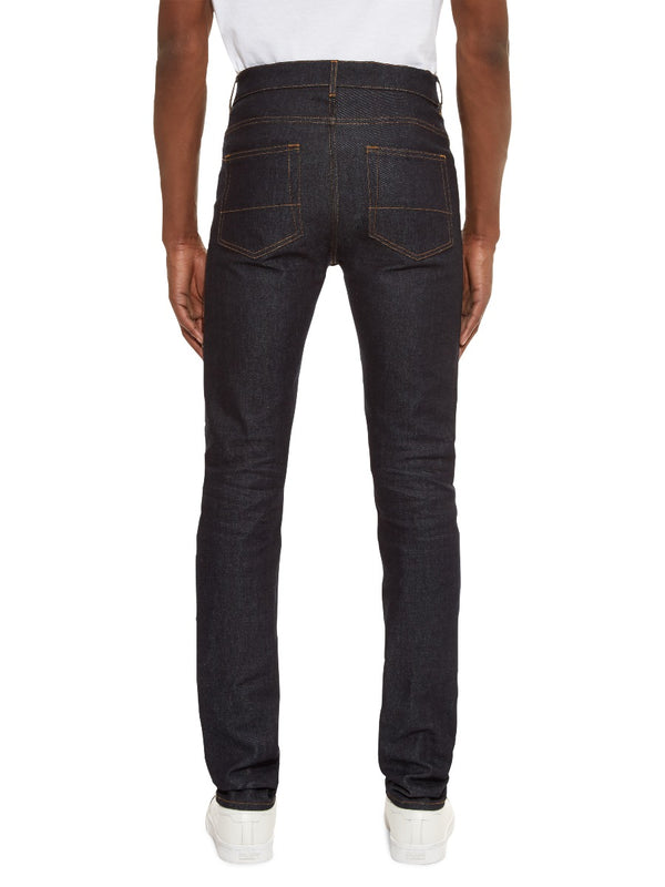 Skinny Fit Raw Denim Jeans