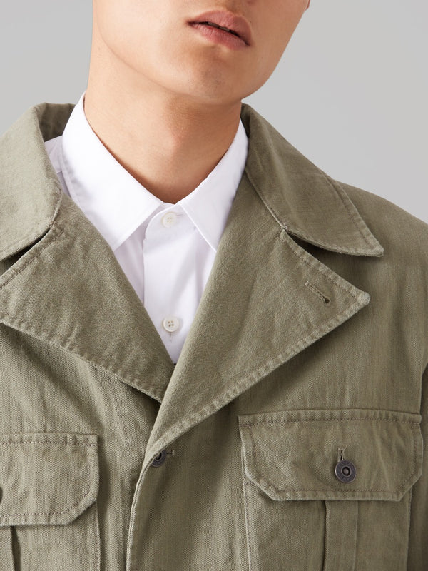 Three Lions Backed Khaki Jacket