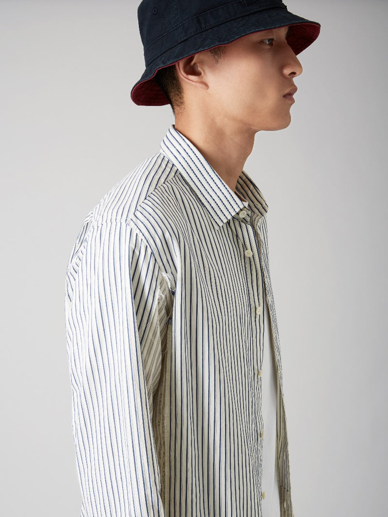Panelled Striped Shirt