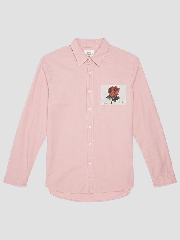 Woven Rose Patch Shirt