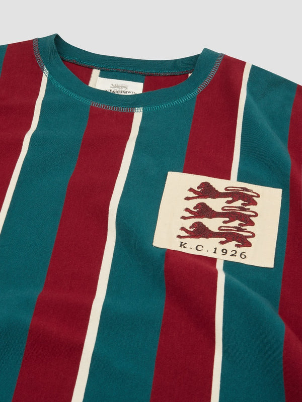 Three Lions Striped Oversized T-shirt