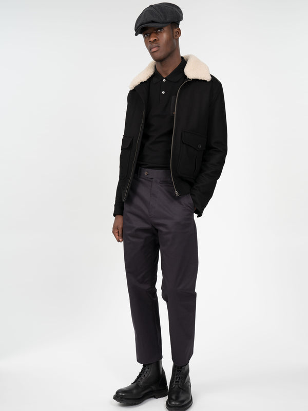 Shearling Collar Bomber