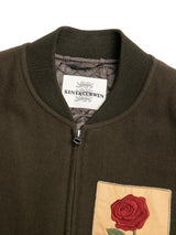 Wool Rose Patch Bomber