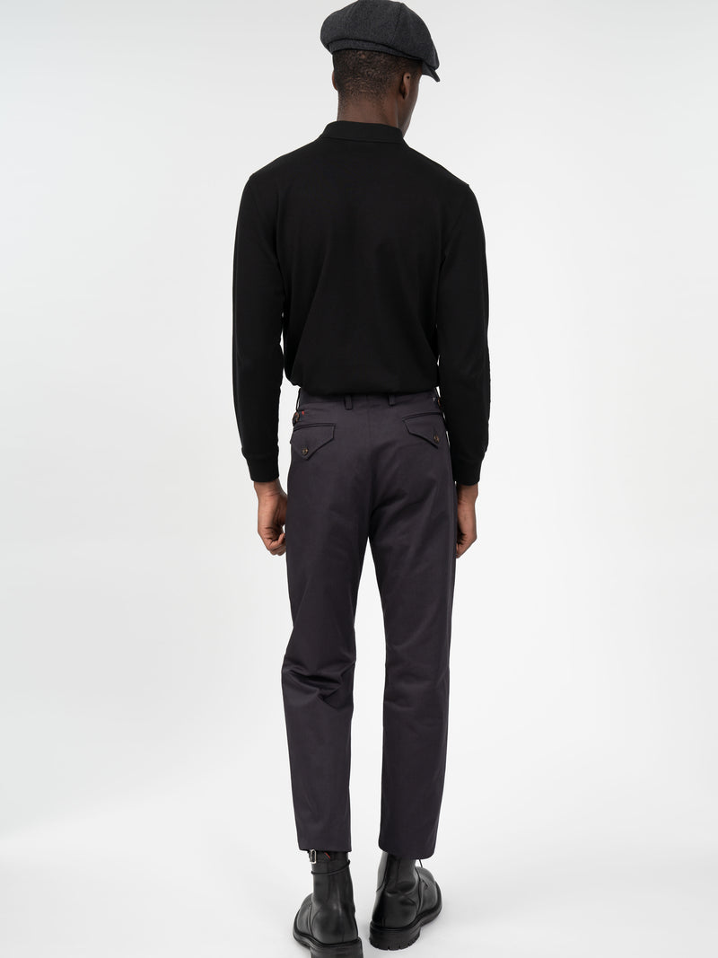 Straight Leg Cotton Trousers