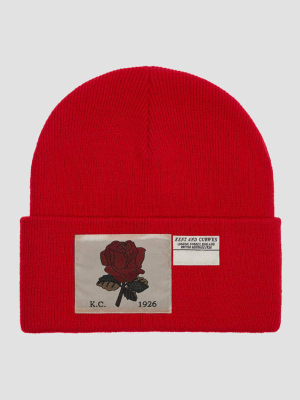 Rose Ribbed Wool Beanie