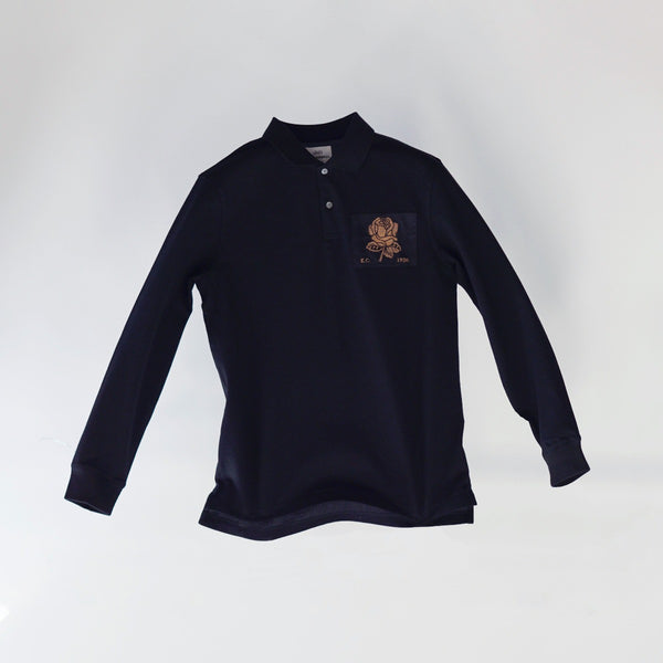 Gold Rose Embroidered Polo