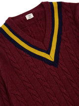 Cable Knitted Cricket Jumper