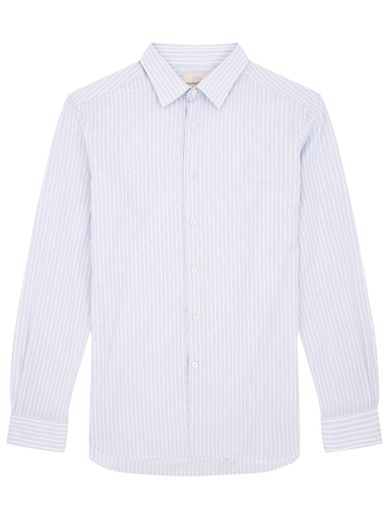 Slim Collar Striped Shirt