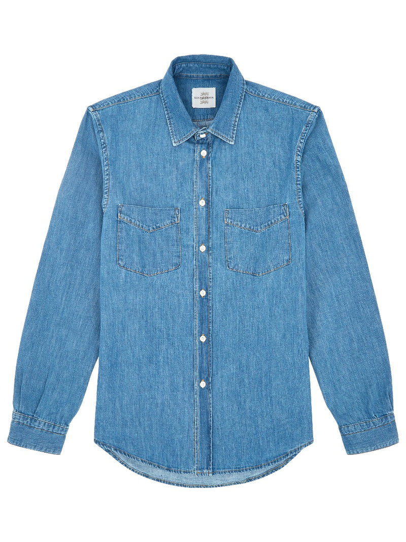 Light Washed Denim Shirt