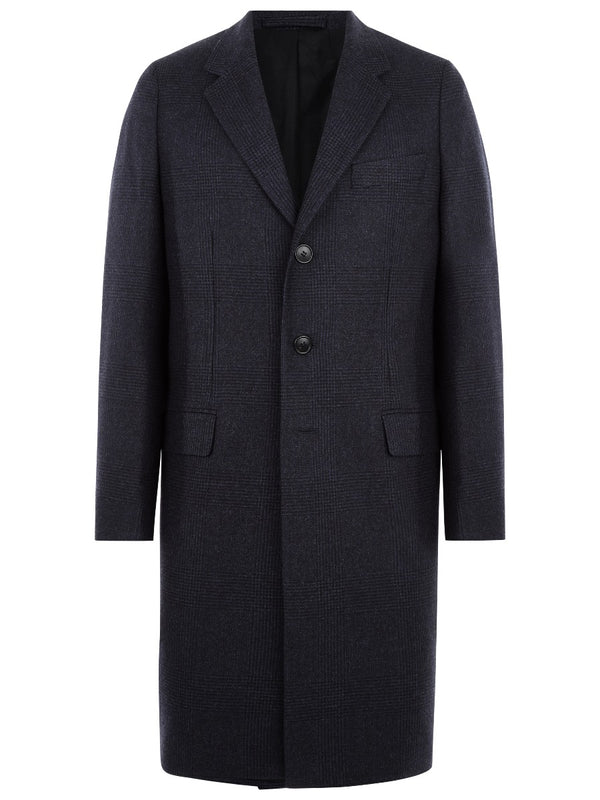 Prince Of Wales Checked Overcoat