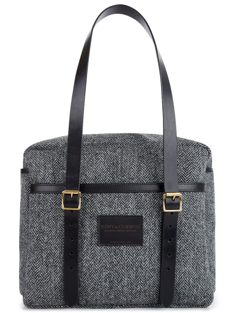 Soft Briefcase In Harris Tweed