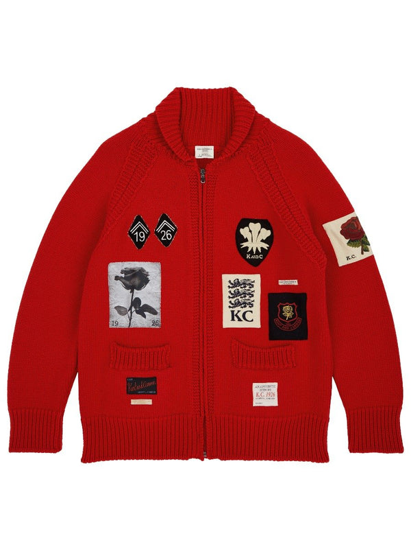Badged Knitted Bomber