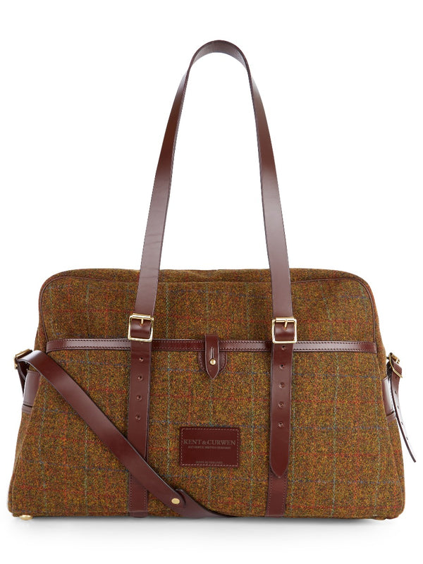 Weekend Holdall In Checked Tweed
