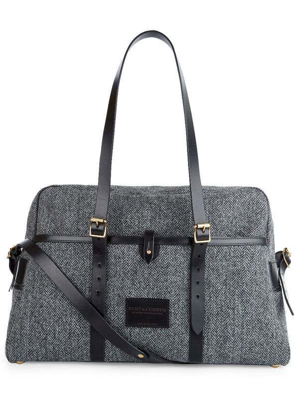 Weekend Holdall In Grey Herringbone