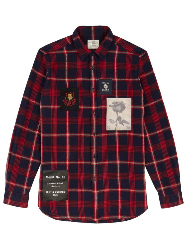 Tartan Shirt With Patches