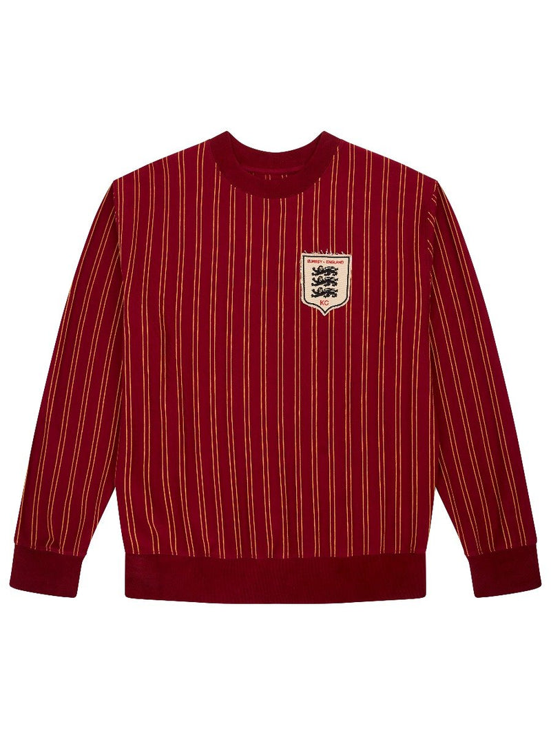 Three Lions Striped Sweatshirt
