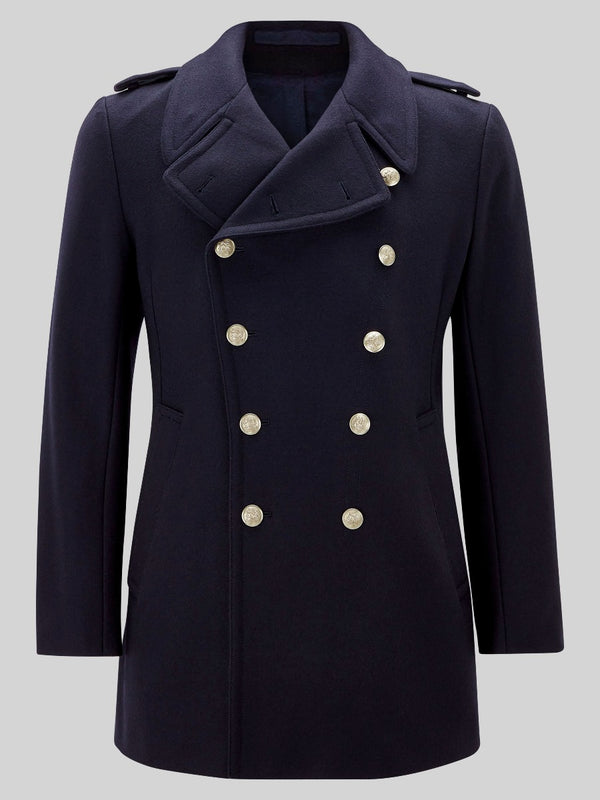 Military Merino Wool Peacoat